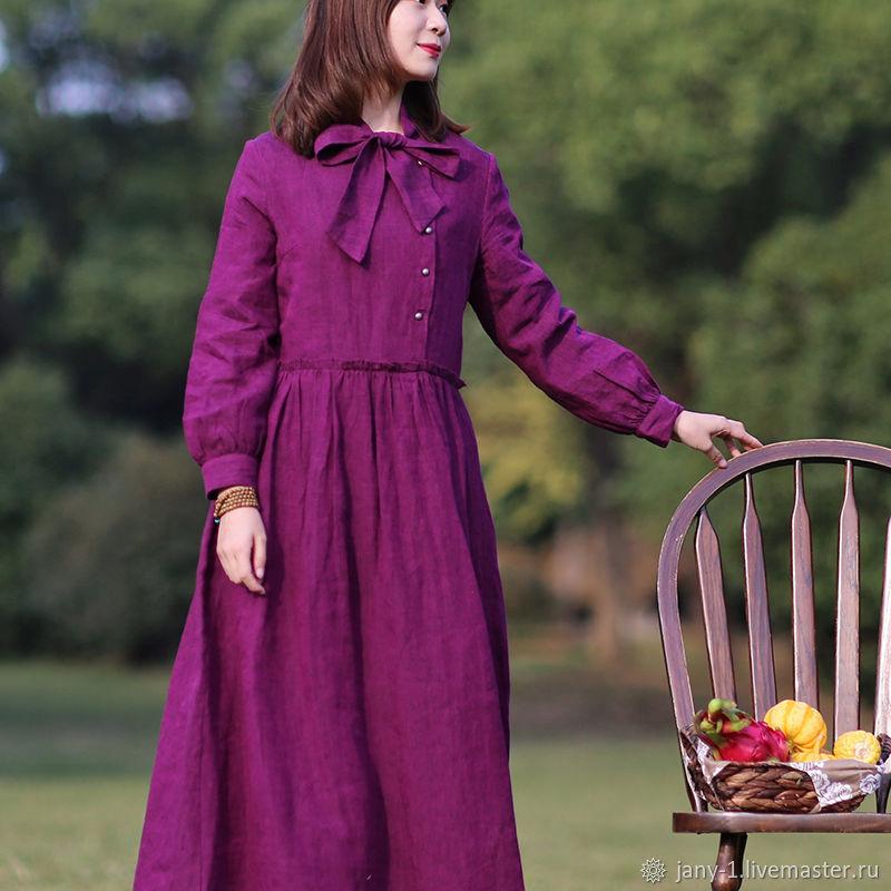 Длинное приталенное платье с оригинальным дизайном,  пурпурный цвет, Платья, Гуанчжоу,  Фото №1