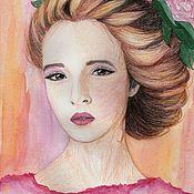 Картины и панно handmade. Livemaster - original item The girl with the hair. Handmade.