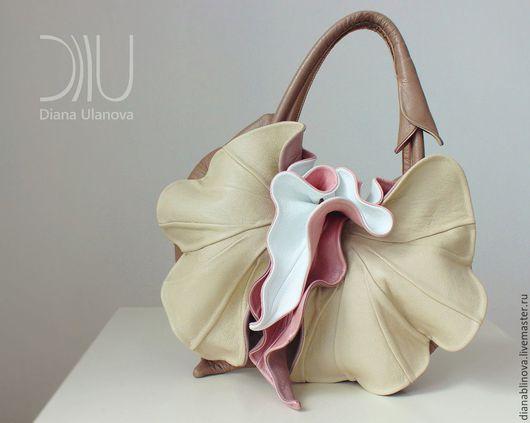 Женские сумки ручной работы. Ярмарка Мастеров - ручная работа. Купить Орхидея NEW беж. Handmade. Бежевый, кожа натуральная