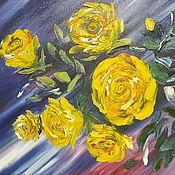 Картины и панно ручной работы. Ярмарка Мастеров - ручная работа Желтые розы. Handmade.