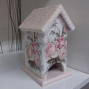 """Для дома и интерьера ручной работы. Ярмарка Мастеров - ручная работа Чайный домик """"Шебби розы"""". Handmade."""