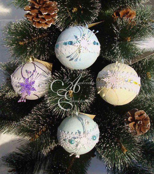Новый год 2017 ручной работы. Ярмарка Мастеров - ручная работа. Купить Елочные шары. Handmade. Елочные игрушки, украшения на елку