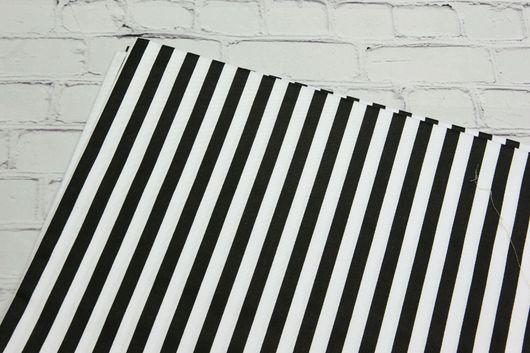 Шитье ручной работы. Ярмарка Мастеров - ручная работа. Купить Ткань хлопок Полоса черная. Сатин. 100% Хлопок. Handmade.