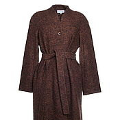 Одежда handmade. Livemaster - original item Straight coats color coffee melange, MIDI. Handmade.