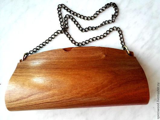 Женские сумки ручной работы. Ярмарка Мастеров - ручная работа. Купить Клатч из дерева №1. Handmade. Сумка из дерева, замша