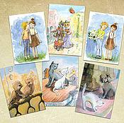 Открытки handmade. Livemaster - original item Cards for lovers ` Set of 6 PCs. Handmade.