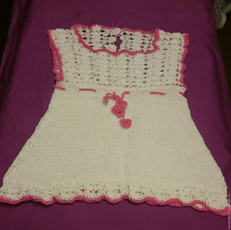 Белое платье для вашей девчоночки из экологичного хлопка