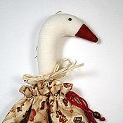 Куклы и игрушки ручной работы. Ярмарка Мастеров - ручная работа Гусь пакетница. Handmade.