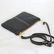 Сумки и аксессуары handmade. Livemaster - original item Clutch, black leather strap Ref. 253. Handmade.