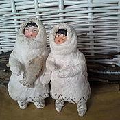 """Куклы и игрушки ручной работы. Ярмарка Мастеров - ручная работа Ватная елочная игрушка """"Там, где вечная зима"""". Handmade."""