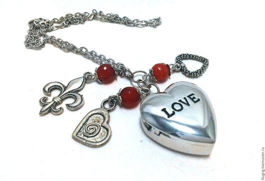 """Часы ручной работы. Ярмарка Мастеров - ручная работа. Купить Часы-кулон """"Серебристое сердце"""". Handmade. Часы, подарок женщине"""