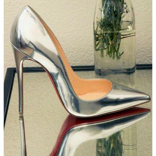 Обувь ручной работы. Ярмарка Мастеров - ручная работа. Купить Туфли лодочки Silver. Handmade. Туфли, обувь ручной работы