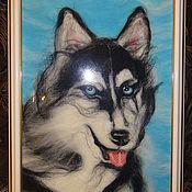 Картины и панно ручной работы. Ярмарка Мастеров - ручная работа Снежный пес. Handmade.