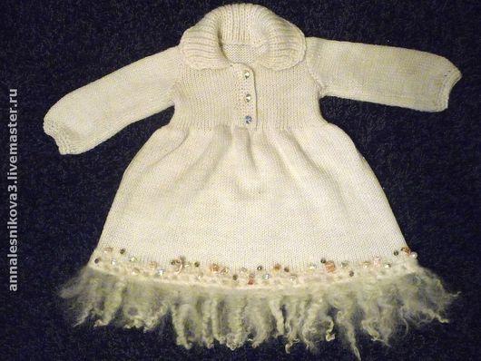 """Одежда для девочек, ручной работы. Ярмарка Мастеров - ручная работа. Купить платье """"Маленькая принцесса"""". Handmade. Вязаное платье"""