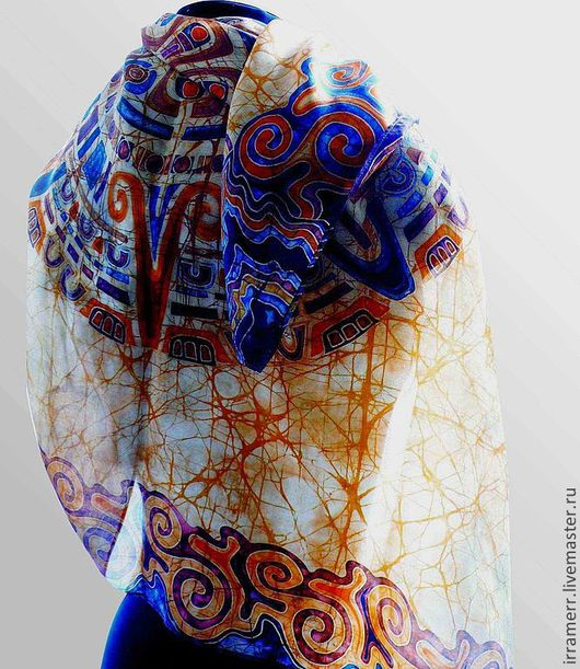 Шали, палантины ручной работы. Ярмарка Мастеров - ручная работа. Купить Солнце ацтеков. Handmade. Орнамент, Авторский дизайн