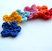 Материалы для творчества handmade. Livemaster - original item Knitted flowers. Item for scrapbooking. Handmade.