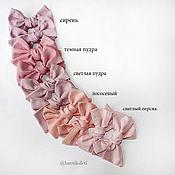 Резинка для волос ручной работы. Ярмарка Мастеров - ручная работа Однотонные цвета Бантики, заколка, повязочка, резинка. Handmade.