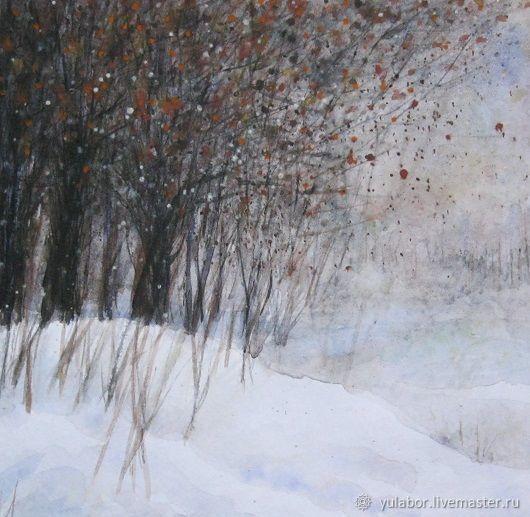 Картина Снежный лес. Акварель, Картины, Москва,  Фото №1
