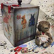 Для дома и интерьера handmade. Livemaster - original item Big wash, children`s toy kit (wooden box). Handmade.