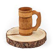 Посуда handmade. Livemaster - original item Mug tree. Wooden beer mug 0.7. Handmade.