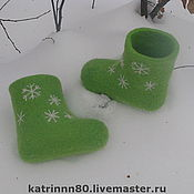 """Валенки ручной работы. Ярмарка Мастеров - ручная работа Валеночки """"Снежинки"""" на ножку 13см. Handmade."""