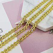 Материалы для творчества handmade. Livemaster - original item 50cm Chain 7 mm (thickness) Gold plated (5313). Handmade.
