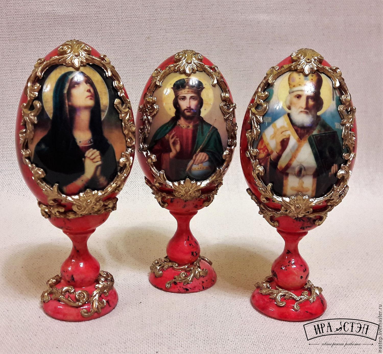 Яйцо интерьерное с ликом святого (1), Подарки, Ростов-на-Дону, Фото №1