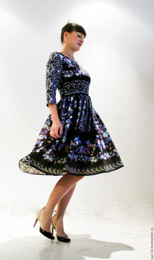 Платья ручной работы. Ярмарка Мастеров - ручная работа. Купить Платье в русском стиле из шерсти Этро. Handmade.