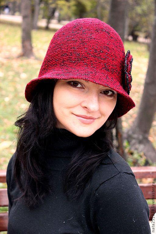 Шляпы ручной работы. Ярмарка Мастеров - ручная работа. Купить Шляпка. Handmade. Бордовый, весна