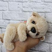 Куклы и игрушки ручной работы. Ярмарка Мастеров - ручная работа Медвежонок тедди бежевый. Handmade.