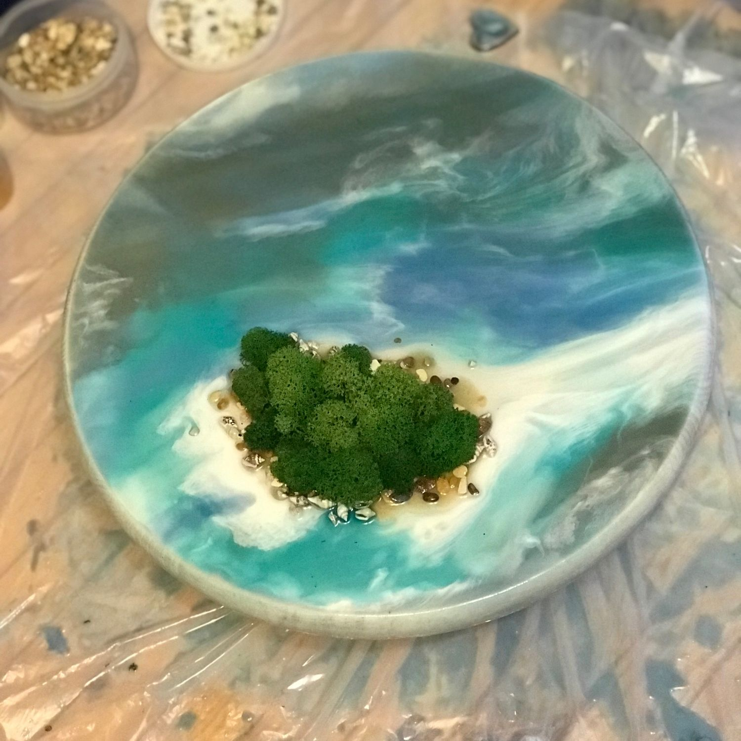 «Island». Painting made of stabilized moss and epoxy resin, Pictures, Belgorod,  Фото №1