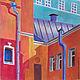 Город ручной работы. Ярмарка Мастеров - ручная работа. Купить Старая Москва, пастель,бумага 29.5х41. Handmade. Графика