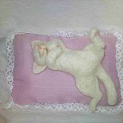 Куклы и игрушки ручной работы. Ярмарка Мастеров - ручная работа кот-соня. Handmade.