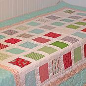 Для дома и интерьера ручной работы. Ярмарка Мастеров - ручная работа Лоскутное одеяло (покрывало) Яркие квадраты. Handmade.