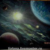 Картины и панно ручной работы. Ярмарка Мастеров - ручная работа Картина пастелью Космос. Handmade.