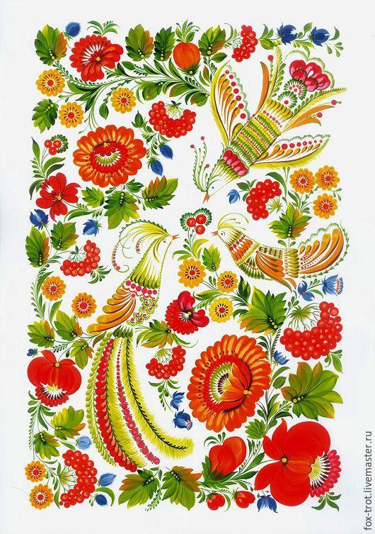 Этно ручной работы. Ярмарка Мастеров - ручная работа. Купить Птичья весна. Handmade. Комбинированный, украинский стиль, картина в подарок