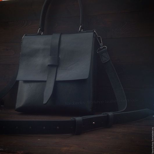 Женские сумки ручной работы. Ярмарка Мастеров - ручная работа. Купить Женская кожаная сумка 88. Handmade. Черный