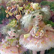 Куклы и игрушки ручной работы. Ярмарка Мастеров - ручная работа куклы Ангелы подсолнечные весенние из полимерной глины. Handmade.