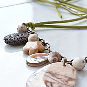 Украшения handmade. Livemaster - original item FOREST boho necklace made of natural stones. Handmade.