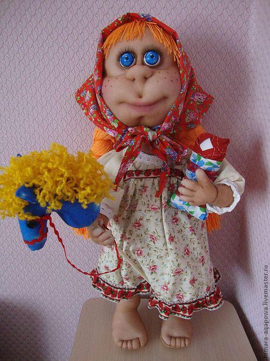 """Человечки ручной работы. Ярмарка Мастеров - ручная работа. Купить Кукла """"Девочка- проказница"""". Handmade. Подарок, ручная работа, для интерьера"""