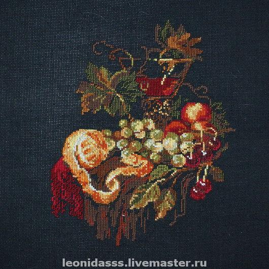 """Натюрморт ручной работы. Ярмарка Мастеров - ручная работа. Купить Вышитая картина """"Натюрморт"""". Handmade. Вышитая картина, картина в подарок"""