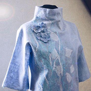 "Одежда ручной работы. Ярмарка Мастеров - ручная работа Женская валяная блуза ""Flavour"". Handmade."