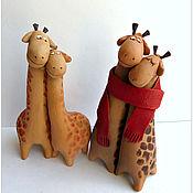 Подарки к праздникам handmade. Livemaster - original item Sweet couple. Giraffes. Handmade.