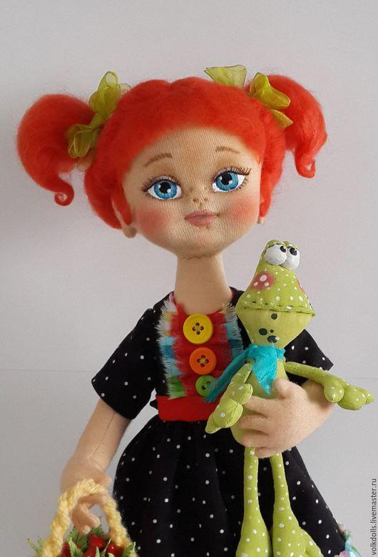 """Коллекционные куклы ручной работы. Ярмарка Мастеров - ручная работа. Купить Текстильная кукла """"Рыжулька"""". Handmade. Рыжий, Кукольный трикотаж"""