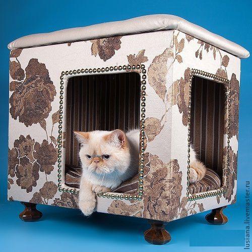 Аксессуары для собак, ручной работы. Ярмарка Мастеров - ручная работа. Купить Домик для собак или кошек. Handmade. Домик для кошки