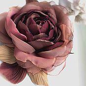 Украшения handmade. Livemaster - original item FABRIC FLOWERS. Chiffon rose