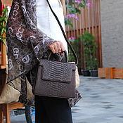 Сумки и аксессуары handmade. Livemaster - original item Chocolate Python leather handbag. Handmade.