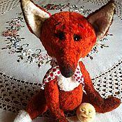 Куклы и игрушки ручной работы. Ярмарка Мастеров - ручная работа Лиса и Колобок. Handmade.