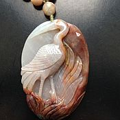 "Украшения handmade. Livemaster - original item Necklace ""Grey Crane"". Handmade."