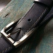 Ремни ручной работы. Ярмарка Мастеров - ручная работа Кожаный ремень ручной работы с прошивкой. Handmade.